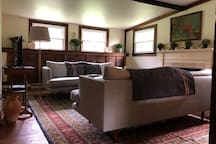 Guesthouse living room from entrance