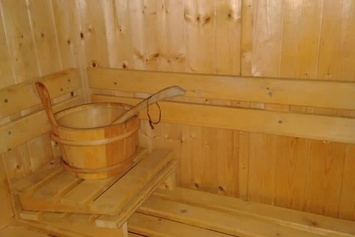 séance sauna en supplément 8€