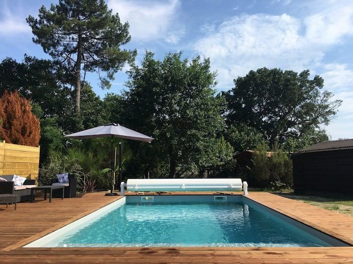 Maison piscine chauffée 10mn de Capbreton/Hossegor