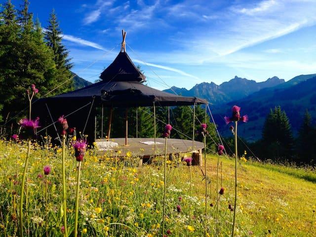 Romantische Jurte in den Bergen - Lenk im Simmental - Jurta