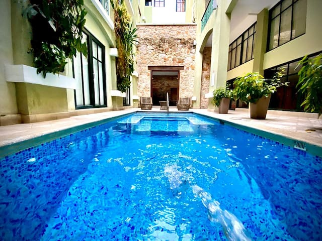 Duplex with pool in front of national theater D9