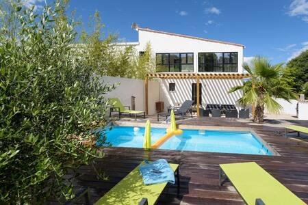 Villa Holidays - Piscine privée - clim - spacieuse