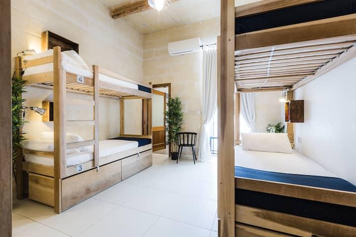 6 Bed Dorm Terrace_Two Pillows Boutique Hostel