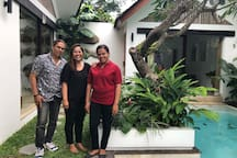 Our amazing local team! Meet Jose, Wayan and Justine!