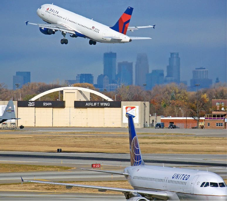 MSP is less then 2 miles from the home making it very easy access for arrivals and departures.