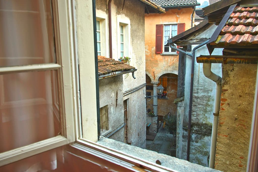 View of the old town from the large bedroom.