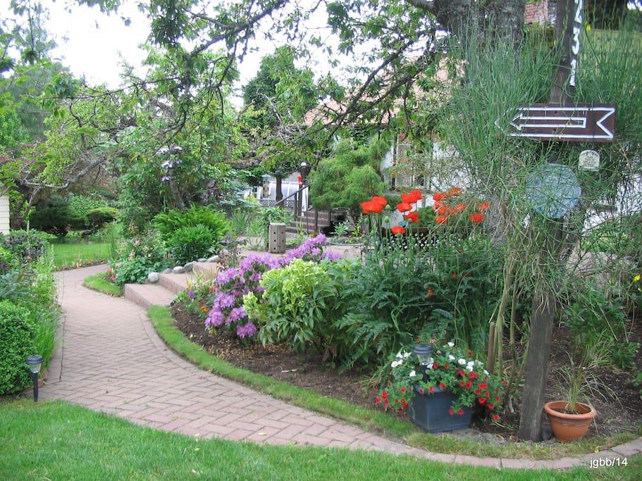 Enjoy the welcoming garden