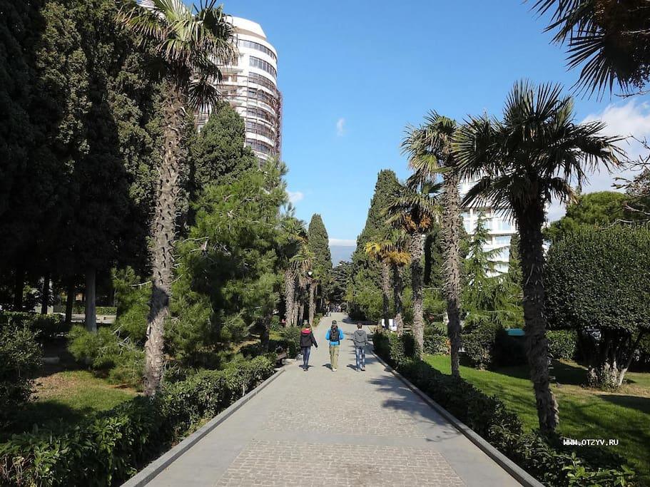 Парк с прекрасными видами и морским воздухом.