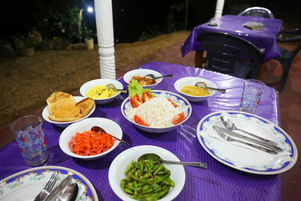 My wife's food - traditional sri lankan dinner