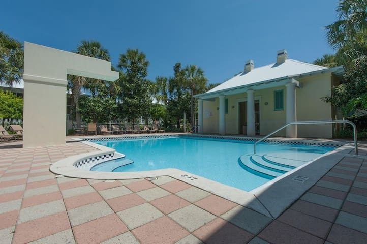 Sparkling clean community pool just steps from the home