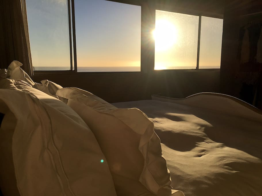 Sunset from bed.