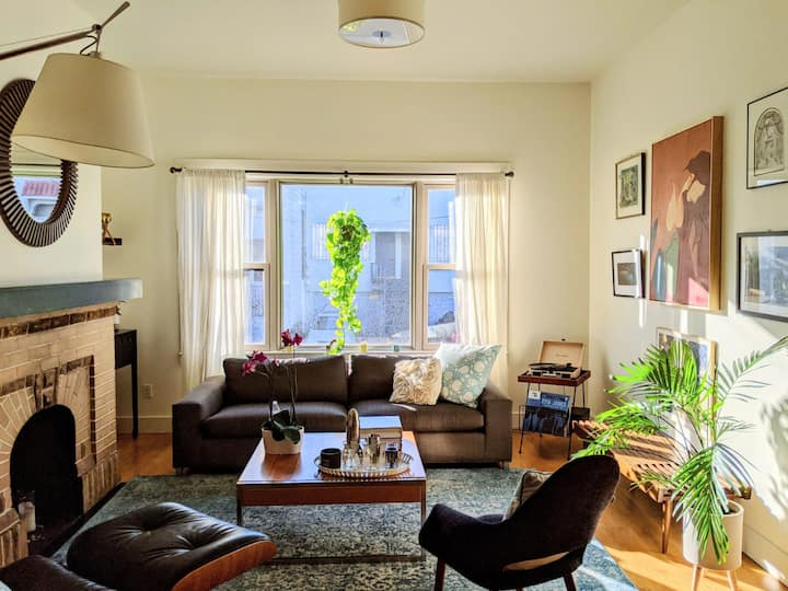 Sun-filled, central, spacious Mission apartment