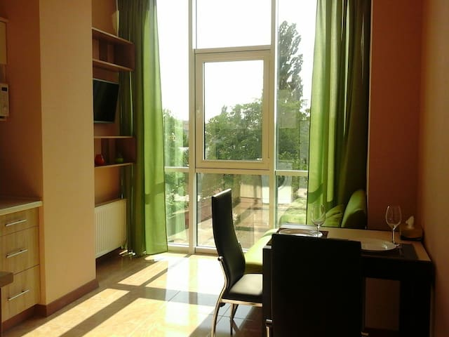 Bringt apartment in the center of city
