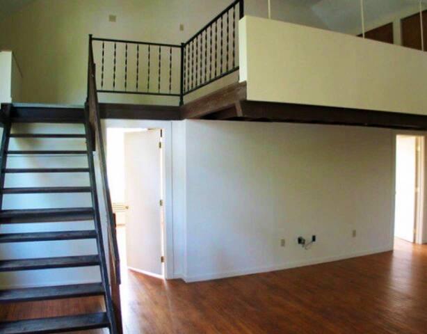 2 doors leading to 2 bedrooms