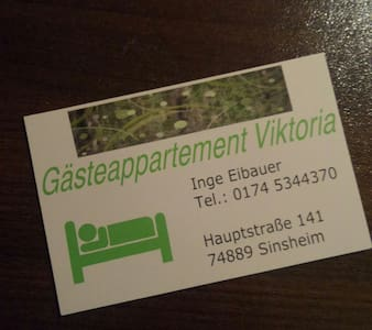 Gästeappartement Viktoria - Sinsheim - Apartment - 1