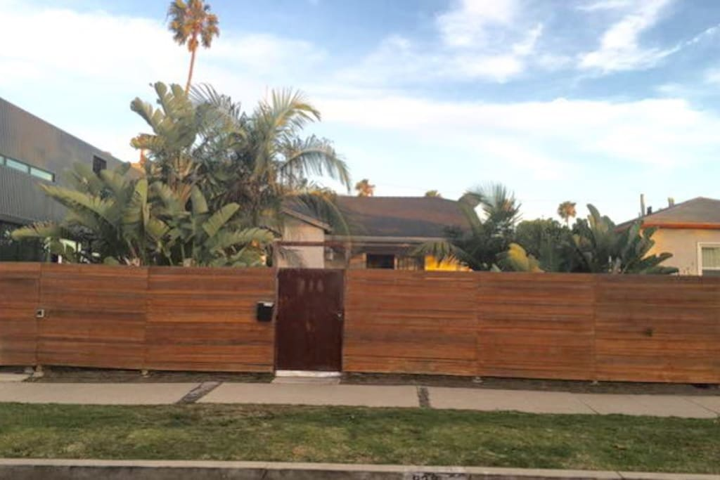 Gated house for privacy.