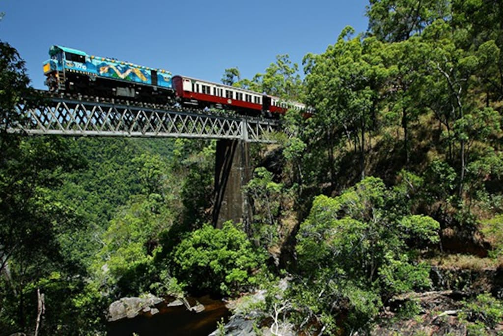 5 minutes from Freshwater Connection to get Scenic Kuranda Rail.