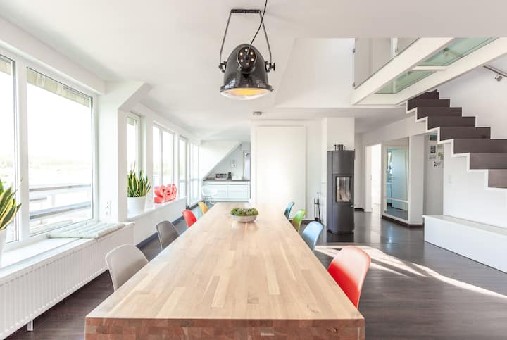 Architekten Loft mit Panoramablick bei Köln