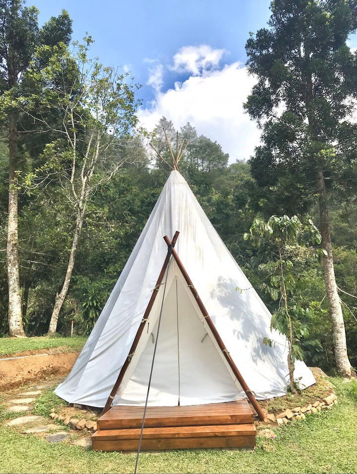 Glamping in the nature at Forest Garden BatuLayang
