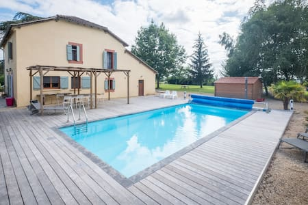 Stylish French character house with heated pool