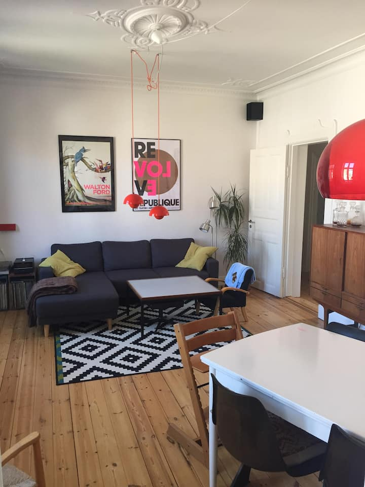100 m2. familievenlig lejlighed i centrum
