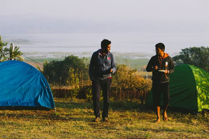 Tent stay at Takshashila Hill, near Darana river.