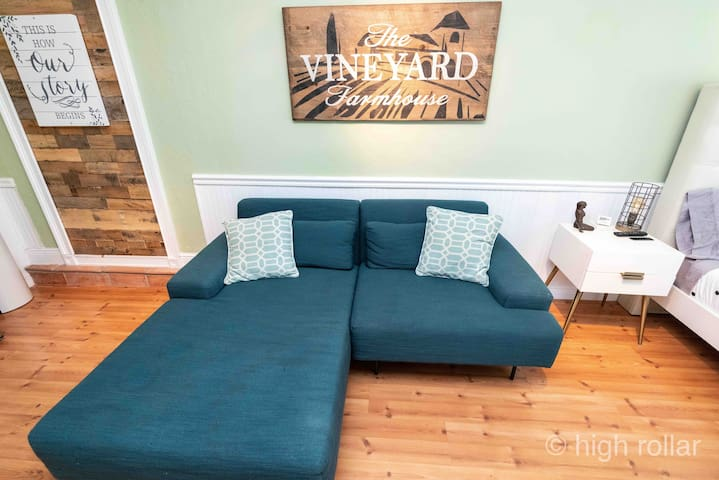 Cozy west elm couch