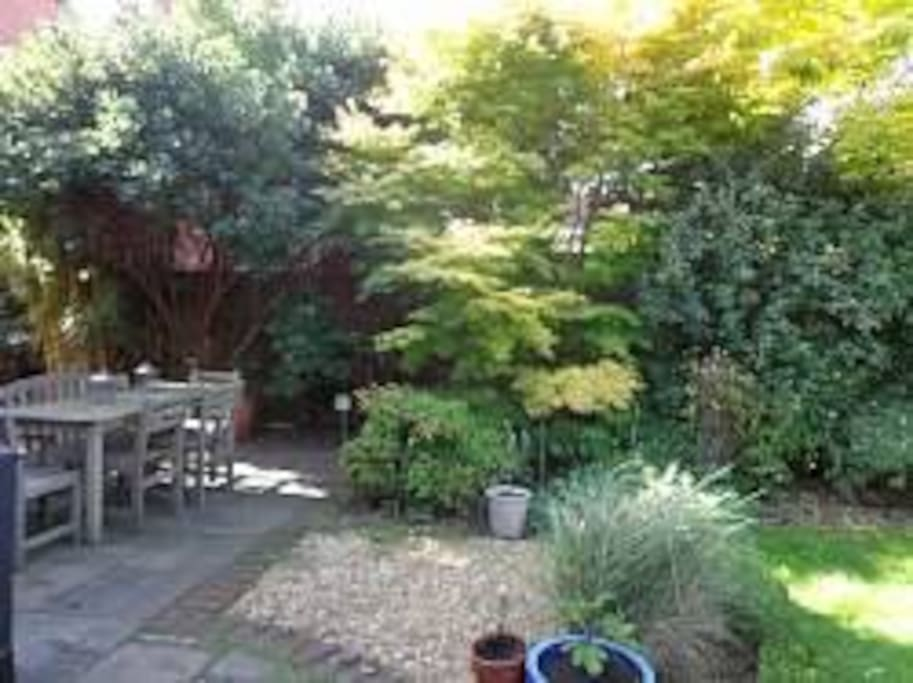 Eating area in garden