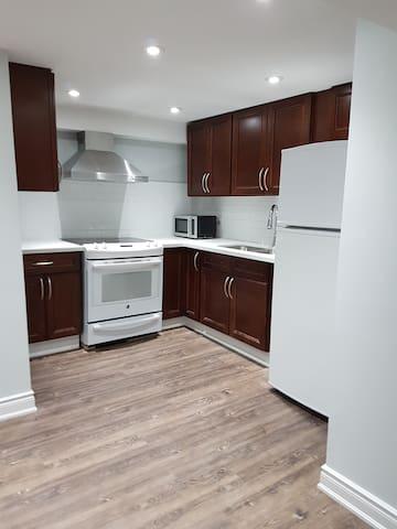 New basement, 3 bedrooms + 3 on suite bathrooms