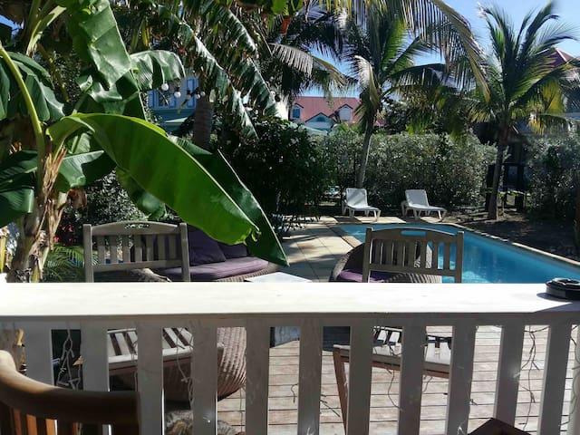 SERENITY Villa piscine privée, Orient Beach*****