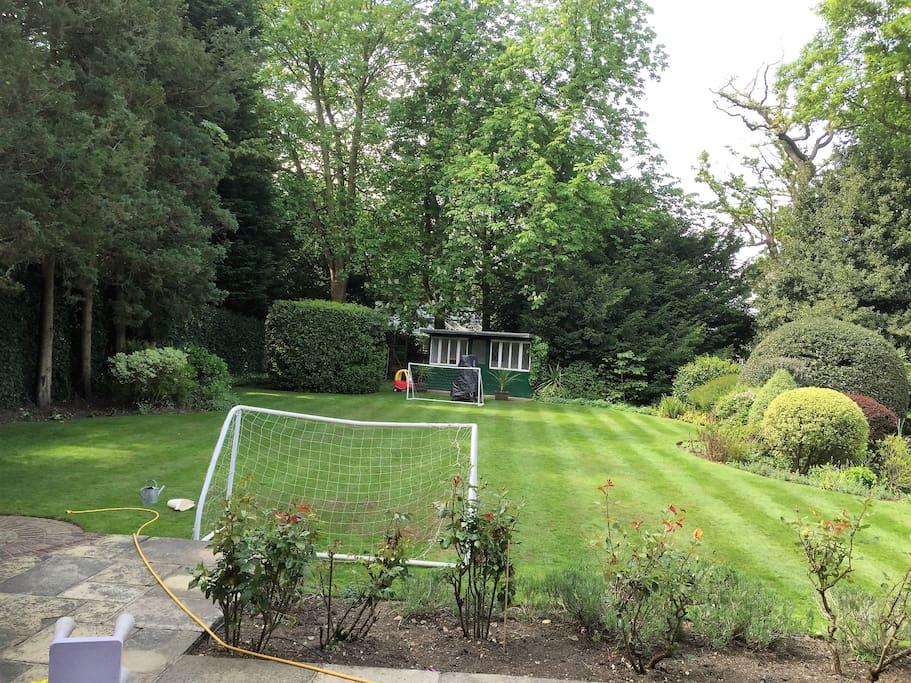 extensive landscaped garden
