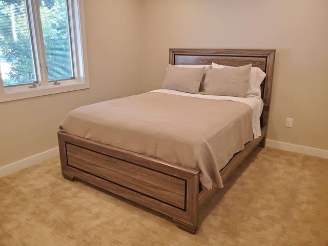 Bedroom #2, also has a queen bed.