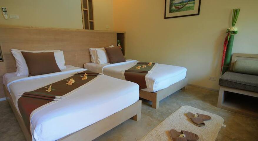 Twin Beds Pool Access in Pai - Pai - Apartemen