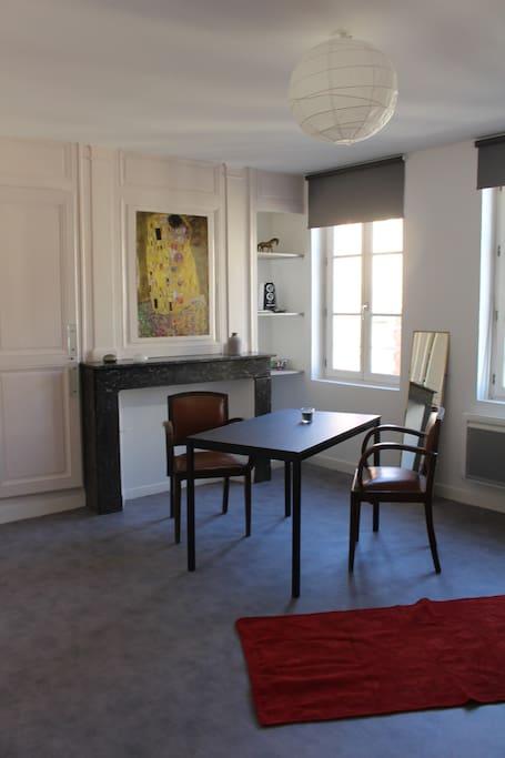 Studio 32 m2 hyper centre ville dans rue pi tonne for Garage a louer chalons en champagne