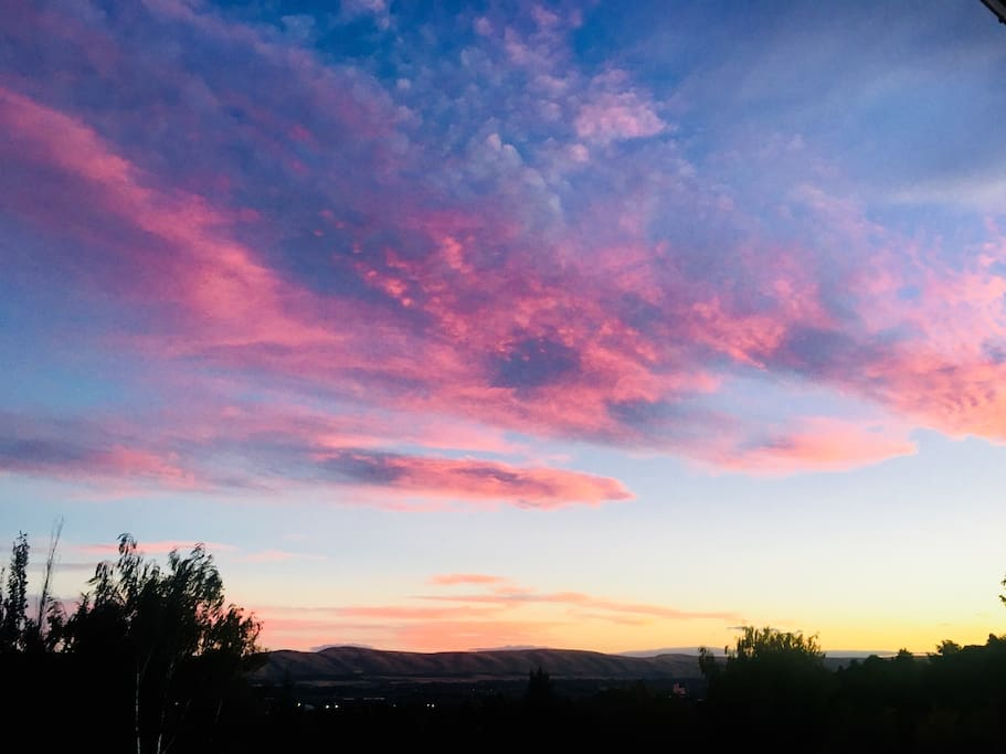 Enjoy sunsets like this one from our deck!