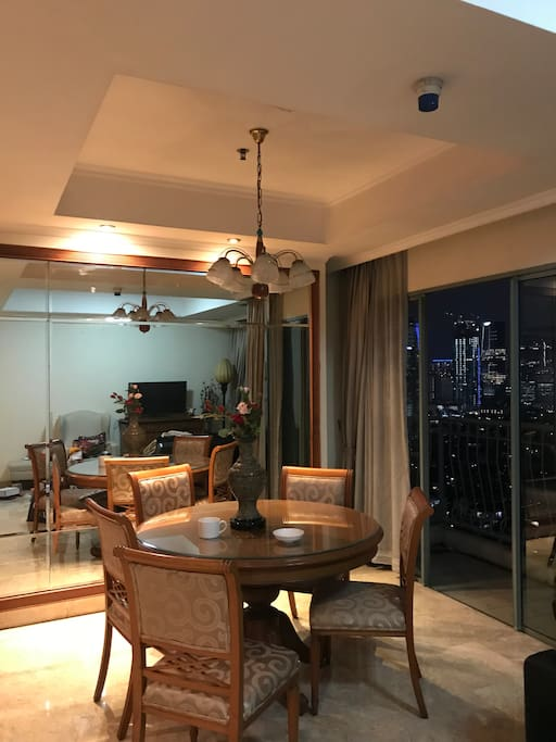 Dining area overlooks the city! INCREDIBLE VIEW!