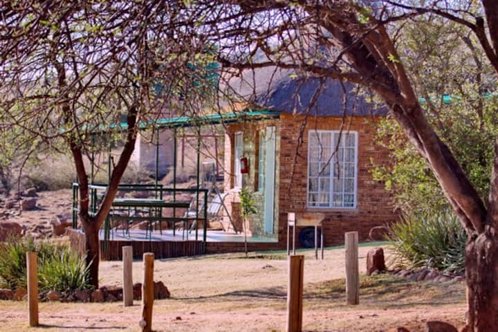 Magalies Retreat - Thatched Chalet:  1- 6  guests