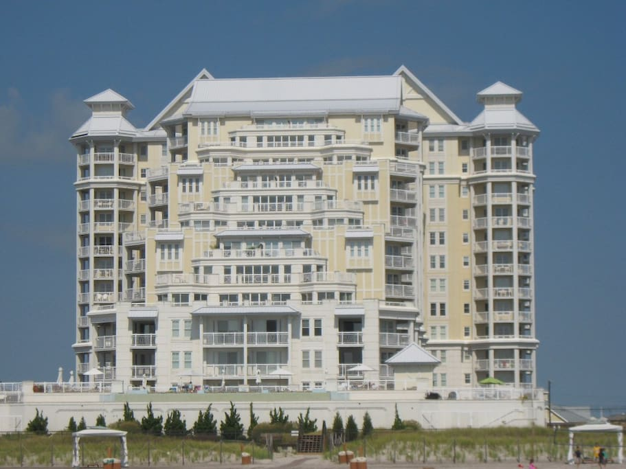 View of The Grand from the beach