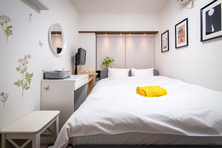 Shinjuku Simple Private Double Bedroom/Free WiFi P