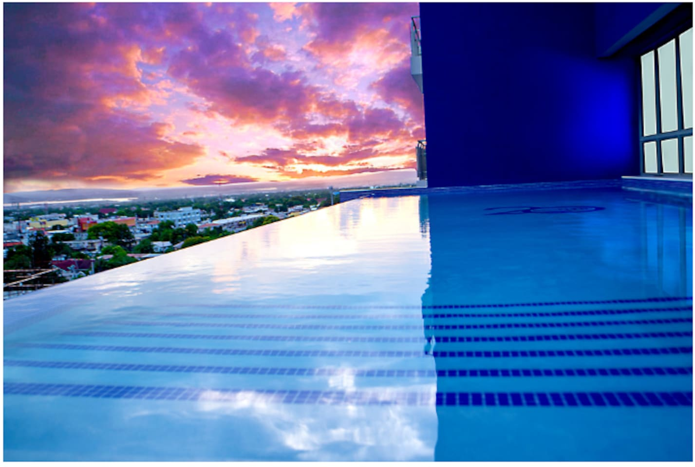 Premium amenities included: Infiniti pool, gym, rooftop deck, elevator, top-notch security