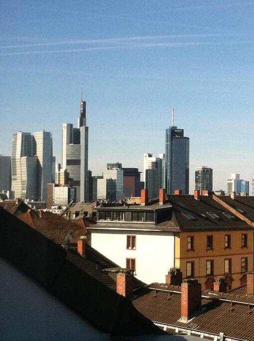 Fantastic skyline view - 360 Grad Rundum-Blick über die Dächer von Frankfurt