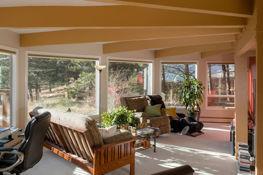 Fabulous, sunny family room to kick back and relax
