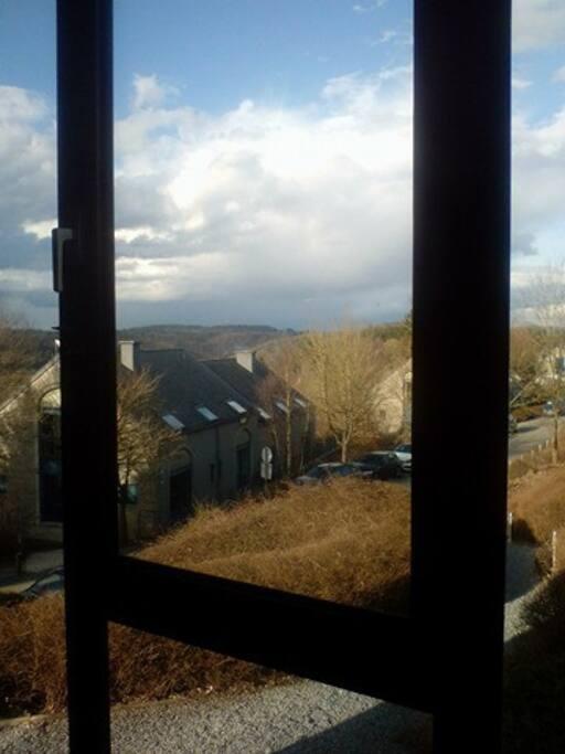 panorama, mijn woning is de hoogst plaats in de vallei.