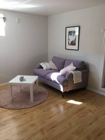 Cozy basement apartment in quiet area.