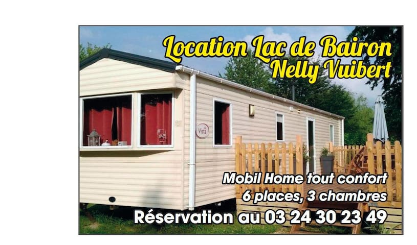 Mobil home/Bungalow 6 pers camping Lac de Bairon