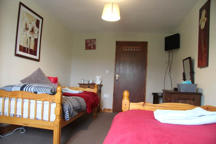 Twin Room at The Crown Inn Longtown, Herefordshire