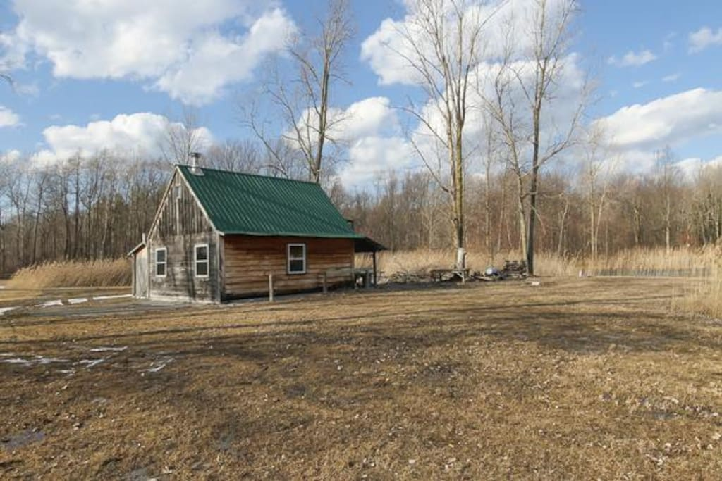 Located right next to the woods which covers over 20 acres