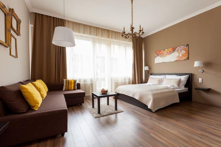 Art Deco Apartment -3 BR+AC+Balcony