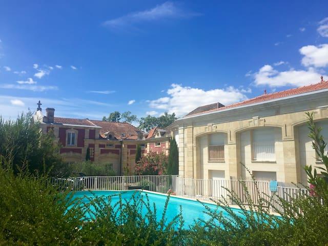 Bel appartement dans résidence type manoir - Bassens - Apto. en complejo residencial