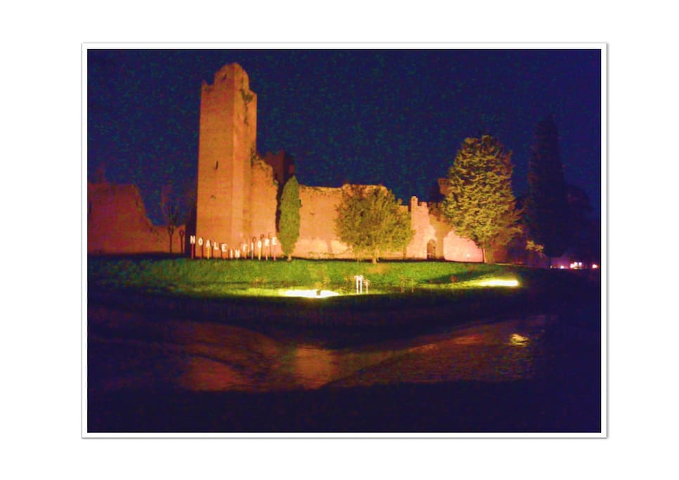 The Medieval fortress  by night